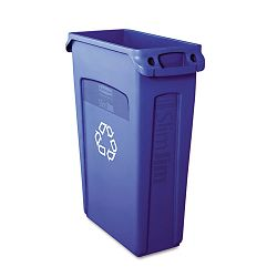 Slim Jim Recycling Container wVenting Channels Plastic 23 gal Blue (RCP354007BE)