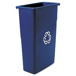 Slim Jim Recycling Container Rectangular Plastic 23 gal Blue (RCP354075BE)