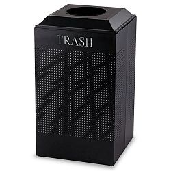 Silhouette Waste Receptacle Square Steel 29 gal Textured Black (RCPDCR24TTBK)