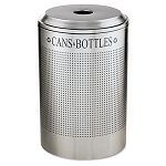 Silhouette CanBottle Recycling Receptacle Round Steel 26 gal Silver (RCPDRR24CSM)
