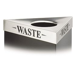 "Trifecta Waste Receptacle Lid Laser Cut ""WASTE"" Inscription Stainless Steel (SAF9560WA)"