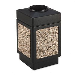 Canmeleon Top-Open Receptacle Square AggregatePolyetylene 38 gal Black (SAF9471NC)