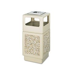 Canmeleon AshTrash Receptacle Square AggregatePolyethylene 38 gal Tan (SAF9473TN)