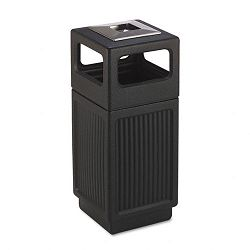 Canmeleon AshTrash Receptacle Square Polyethylene 15 gal Textured Black (SAF9474BL)