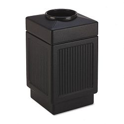 Canmeleon Top-Open Receptacle Square Polyethylene 38 gal Textured Black (SAF9475BL)