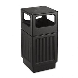 Canmeleon Side-Open Receptacle Square Polyethylene 38 gal Textured Black (SAF9476BL)
