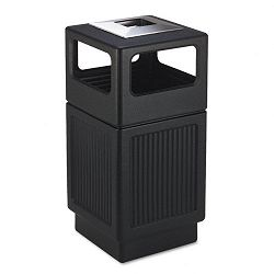 Canmeleon AshTrash Receptacle Square Polyethylene 38 gal Textured Black (SAF9477BL)