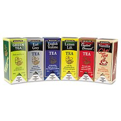 Assorted Tea Packs Six Flavors 28 Tea BagsFlavor 168Carton (BTC15577)