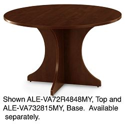"Valencia Series Round Table Top 47-34"" Diameter Mahogany (ALEVA72R4848MY)"