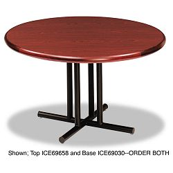 OfficeWorks Four-Column Round Table Base 31w x 29h Black (ICE69030)