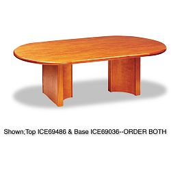 OfficeWorks Executive Series Racetrack Table Base Cherry (ICE69036)