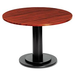 "OfficeWorks 36"" Round Conference Table Top Square Edge Mahogany (ICE69138)"