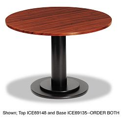 "OfficeWorks 42"" Round Conference Table Top Square Edge Mahogany (ICE69148)"