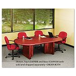 "OfficeWorks Executive Series 96"" Racetrack Table Top 96"" x 48"" Mahogany (ICE69488)"