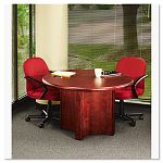 OfficeWorks Executive Series Round Table Base 29-12w x 29h Mahogany (ICE69608)