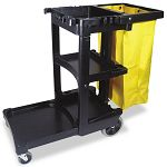 Multi-Shelf Cleaning Cart 3-Shelf 20w x 45d x 38-14h Gray (RCP617388BK)
