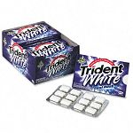 Trident White Sugarless Gum Cool Rush Flavor 12 Pieces per Pack 12 Packs per Box (CDB6175700)