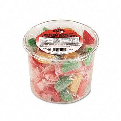 Assorted Fruit Slices Candy Individually Wrapped 2 Lb. Plastic Tub (OFX00005)