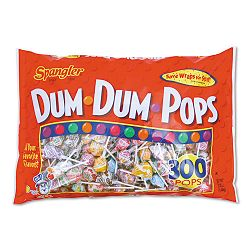 Dum-Dum-Pops Assorted Flavors Individually Wrapped 300 per Pack (SPA60)