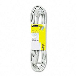 Indoor Heavy-Duty Extension Cord 3-Prong Plug 1 Outlet 15-ft. Length Gray (FEL99596)
