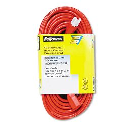 IndoorOutdoor Heavy-Duty 3-Prong Plug Extension Cord 1 Outlet 50-ft. Orange (FEL99598)