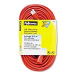 IndoorOutdoor Heavy-Duty 3-Prong Plug Extension Cord 1 Outlet 100-ft. Orange (FEL99599)