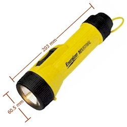 2 D Industrial Flashlight YellowBlack (EVE1251)