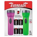 Economy Bright Light Flashlight Assorted Colors 2 Pack (EVE3251NBP2S)