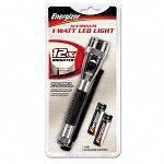 Metal One-Watt LED Flashlight with Lanyard Black (EVEML1W2AAE)