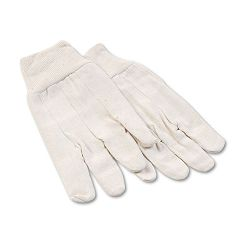 8oz Cotton Canvas Gloves Large 1 Dozen (BWK7)
