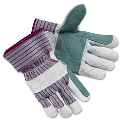 Economy Leather Palm Gloves Extra Large Striped 1 Pair (CRW1211XL)