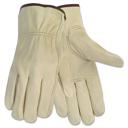 Economy Leather Driver Gloves Large Cream 1 Pair (CRW3215L)