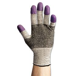G60 Purple Nitrile Gloves LargeSize 9 BlackWhite 1 Pair (KIM97432)