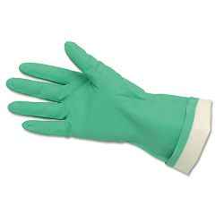 Flock-Lined Nitrile Gloves Green 1 Dozen (CRW5319E)