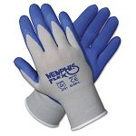 Memphis Flex Seamless Nylon Knit Gloves Large BlueGray 1 Pair (CRW96731L)