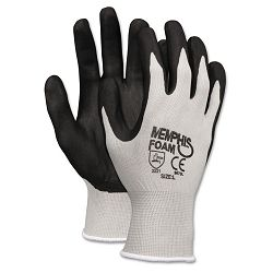 Economy Foam Nitrile Gloves Medium GrayBlack 1 Dozen (CRW9673M)