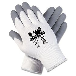 Ultra Tech Foam Seamless Nylon Knit Gloves Large WhiteGray 1 Pair (CRW9674L)