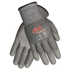 Ninja Force Polyurethane Coated Gloves Large Gray 1 Pair (CRWN9677L)