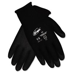 Ninja HPT PVC coated Nylon Gloves Small Black 1 Pair (CRWN9699S)