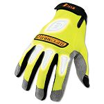 I-Viz Reflective Gloves 1 Pair Fluorescent Green Large (IRNIVG04L)
