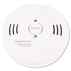 Night Hawk Combination Smoke and CO Alarm with Voice+Alarm Warning (KID9000102)