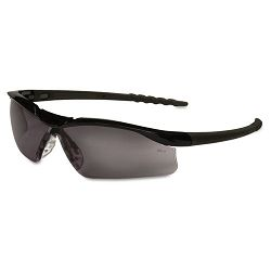Dallas Wraparound Safety Glasses Black Frame Gray Lens (CRWDL112)