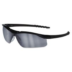 Dallas Wraparound Safety Glasses Black Frame Gray IndoorOutdor Lens (CRWDL119AF)