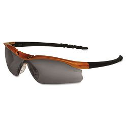 Dallas Wraparound Safety Glasses Orange Frame Gray AntiFog Lens (CRWDL212AF)