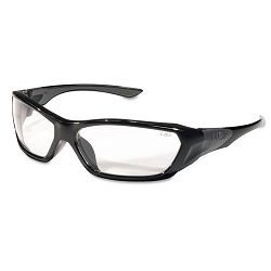 ForceFlex Safety Glasses Black Frame Clear Lens (CRWFF120)