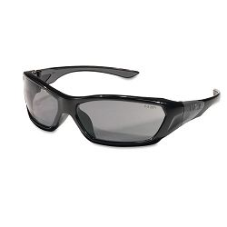 ForceFlex Safety Glasses Black Frame Gray Lens (CRWFF122)