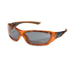 ForceFlex Safety Glasses Orange Frame Gray Lens (CRWFF132)