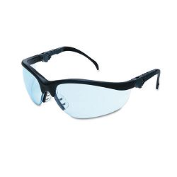Klondike Plus Safety Glasses Black Frame Light Blue Lens (CRWKD313)