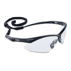 Nemesis Safety Glasses Black Frame Clear Lens (KIM3000354)