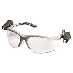 LightVision Safety Glasses wLED Lights Clear AntiFog Lens Gray Frame (MMM114760000010)